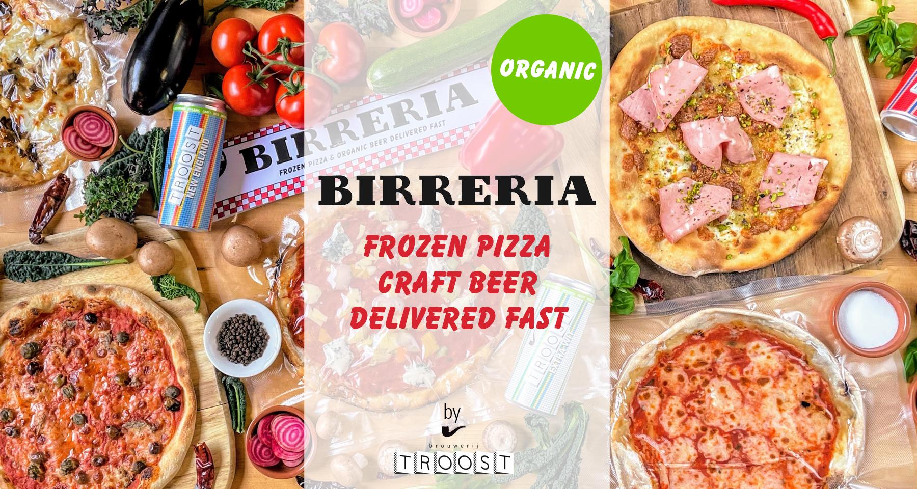 birreria, organic, frozen pizza, craft beer delivered fast