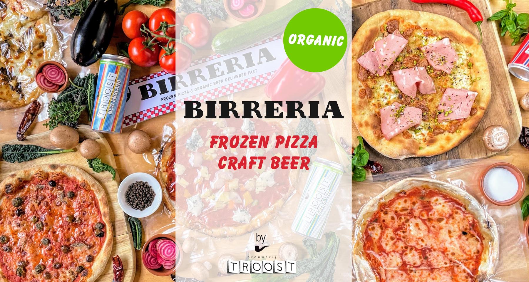 BIrreria frozen pizza craft beer